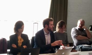 Antonio Coco and Talita Dias presenting on due diligence in cyberspace at the Workshop '1nternational Law and Cyberspace', Helsinki, 28 September 2019